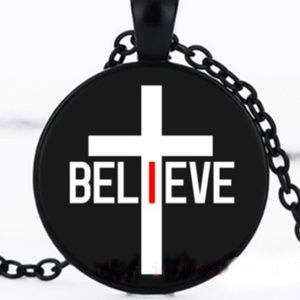 Necklace- NEW- I Believe Cross Christian